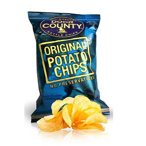door county potato chips to go along with the best hamburgers in madison