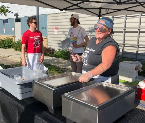 Employees of Pete's Hamburger Catering at NorthGate Neighbors Market
